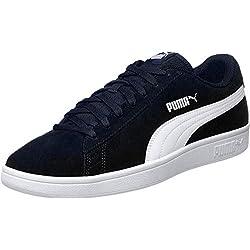 Puma Puma Smash v2, Sneakers Basses mixte adulte - Bleu (Peacoat-Puma White), 44 EU