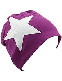 85fc48471ce Miobo Bébé Enfants Jersey Slouch Bonnet Long Bonnet avec étoile Coton ...