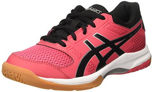 Foto de Asics Gel-Rocket 8, Zapatillas de Voleibol para Mujer, Rosa (Rouge Red/Black/White 1990), 40.5 EU