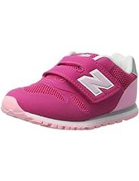 NEW BALANCE - Zapatillas deportivas color rosa y fucsia, en tela y cuero, con velcro 500, Niña, Niñas-30,5