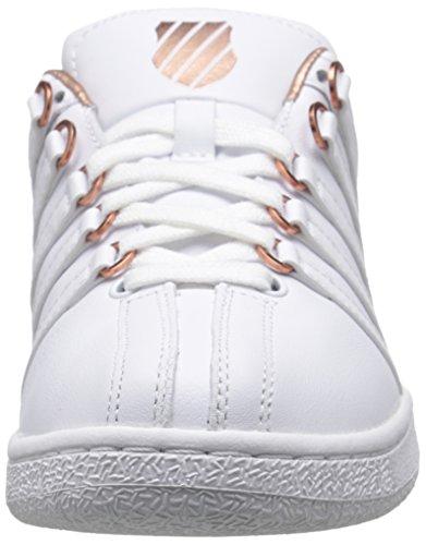 K-Swiss Classic Vn Aged Foil, Baskets Basses Femme Blanc - White (White/Rose Gold)