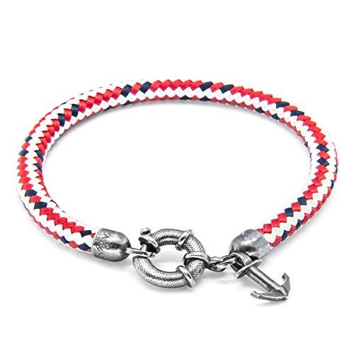 Anchor & Crew Bracelet Acier Inoxydable Homme Rouge