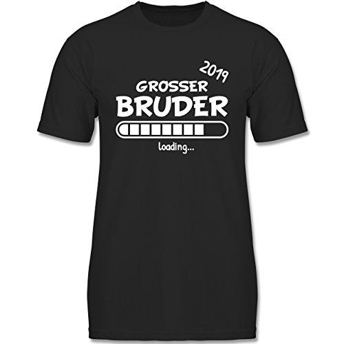 Geschwisterliebe Kind - Großer Bruder Loading 2019-128 (7-8 Jahre) - Schwarz - F140K - Jungen T-Shirt