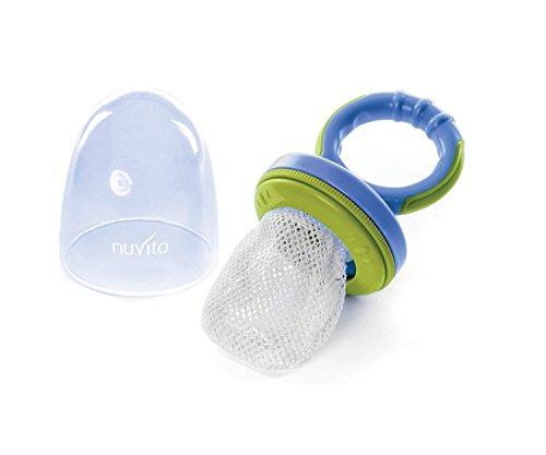 Nuvita NU-PPPL0012 Flavorillo Combo Nutritional Feeder E Massaggia Gengive, Azzurro