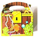 Treasure Chest Pirate Party Food Boxes, pack of 20