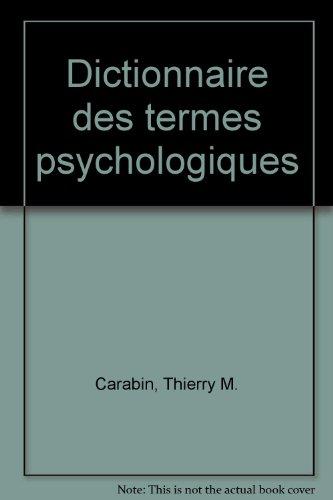 Dictionnaire des termes psychologiques