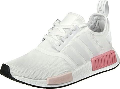 adidas Originals Damen Nmd_r1 Sneaker, Weiß (Footwear White/Footwear White/Icey Pink), 39 1/3 EU