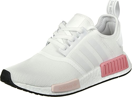 adidas Originals Women's NMD_R1 Trainers, White (Footwear White/Footwear White/Icey Pink), 5 UK...