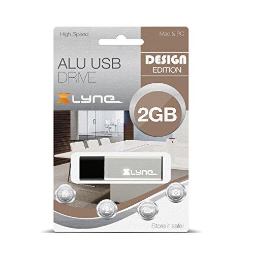 XLYNE 2GB USB-Stick 2.0 ALU High Speed, Design Flash Laufwerk (Sie Rufen Express)