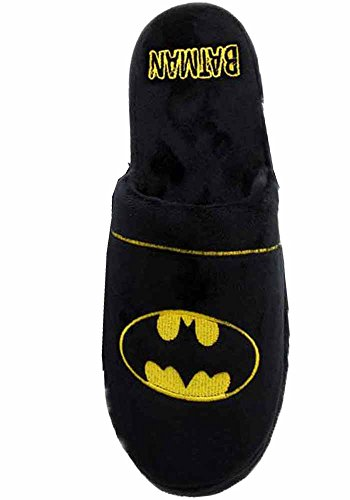 Official DC Batman Classic Logo Black Mule Slip On Super Soft Slippers - 2