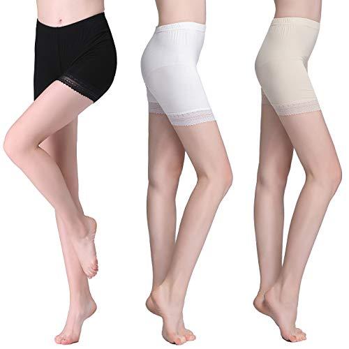 Vinconie Short Legging Kurze Radlerhose Shorts Für Kleider Knielange Kurze Hosen