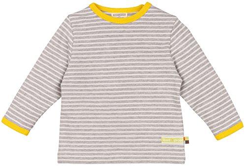 loud + proud Unisex Baby Sweatshirt Shirt Ringel, Grau (Grey Mel./Natural Gr/Na), 68 (Herstellergröße: 62/68)