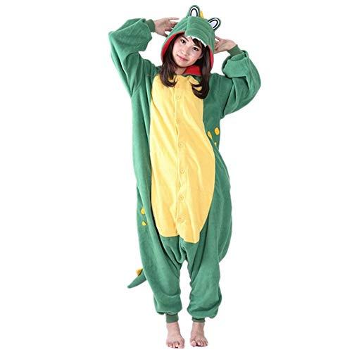 DUKUNKUN Cartoon Green Big Mouth Tier Pyjamas Erwachsene Unisex Halloween Christmas Party Kostüm Cartoon Party,M