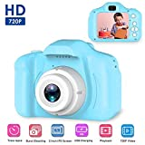 Cámara Digital para niños, Womdee Mini cámara fotos Selfie HD 8MP/1080P Video,Carcasa de Silicona para Niños de 3-10 años con Tarjeta de 16GB TF (Rojo)