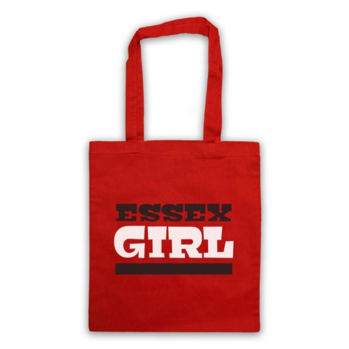 Essex Girl Slogan Tote Bag Rosso