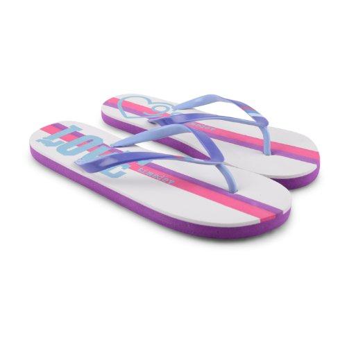Footwear Sensation , Damen Dusch- & Badeschuhe Schwarz schwarz White Purple