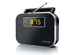 Muse M-081 R Tragbares 2-Band Radio (UKW/MW) mit 20 Senderspreicher/Uhr