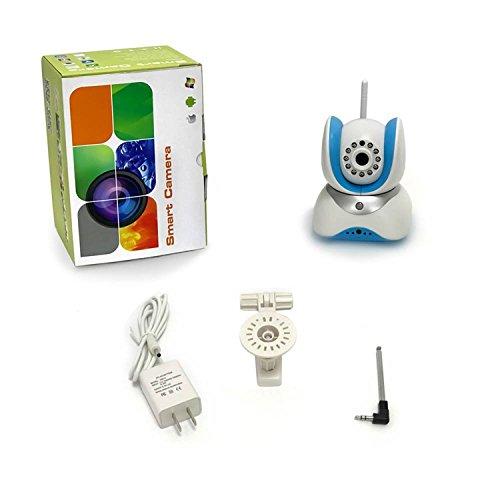 HD 720P WiFi Wireless Sicherheit IP-Kamera, Tag Nacht Fernüberwachung, Plug & Play, integriertes Mikrofon und Lautsprecher? PTZ, Überwachungskamera Webcam System unterstützt 64GB TF Speicherkarte für iOS Android (Wireless-kameras Swann)