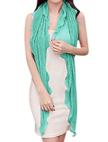 sourcingmap Femme Manches En Eventail Semi-transparente plissé Cardigan Vert