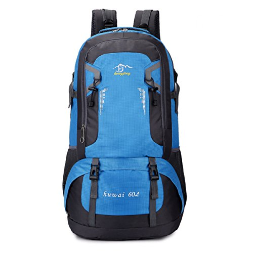 BULAGE Taschen Rucksäcke Outdoor Wandern Schultern M-Paket Tourismus Big Bags Wasserdicht Wandern Urlaub Reitet Mit Hohen Kapazität Computer Blue