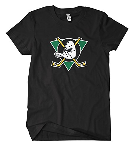 Mighty Ducks T-Shirt (L, Schwarz) - Duck Herren T-shirt