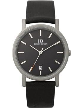 DZ120003 Danish Design Herren-Armbanduhr Analog Leder Schwarz