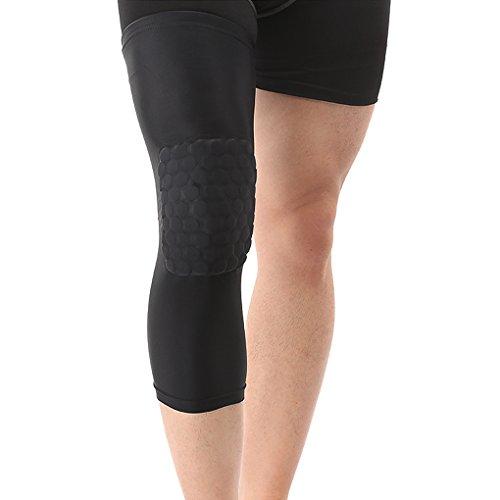 1 Paar Lange Basketball Lycra Kompression Kniepolster Kniebandage Laufende Radfahren Knieschoner Knie Stabilisatoren für Kniegelenk Schmerzlinderung Arthritischen Knie (Radfahren Knie Wärmer Lycra)