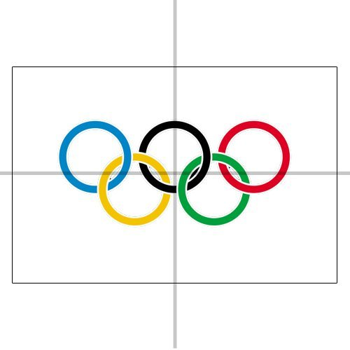 Drapeau, 5m x 3m, Olympiques