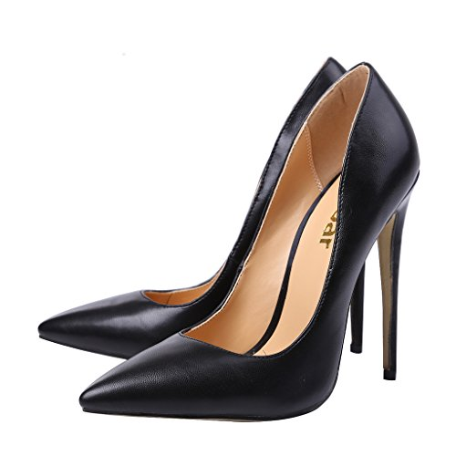 Guoar - Scarpe chiuse Donna (ecopelle nera)