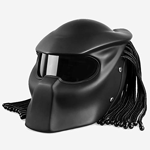 ator Motorradhelm, Halley Scorpion Maske Mit LED-Licht Four Seasons Universal Integralhelm, DOT-Zertifizierter Helm,D,L ()