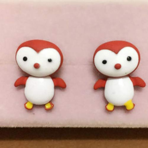 Girl Kostüm Scarlet - gonglong Cute Penguin Kids Girl Stud Ohrringe Fashion Jewelry(None Scarlet)