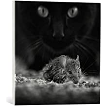 """Cuadro en lienzo: Francois Casanova """"Black breakfast"""" - Impresión artística de alta calidad, lienzo en bastidor, 50x50 cm"""