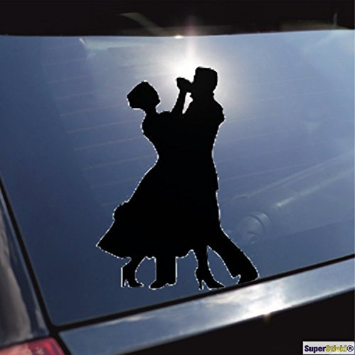 Tanzen Samba Tango Aufkleber ca. 20 cm Autoaufkleber Tuningaufkleber von SUPERSTICKI® aus Hochleistungsfolie für alle glatten Flächen UV und Waschanlagenfest Tuning Profi Qualität Auto KFZ Scheibe Lack Profi-Qualität Tuning
