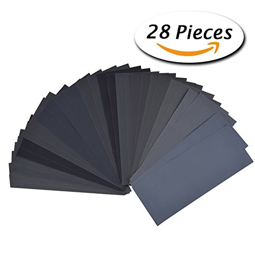 28-pcs-120-to-3000-grit-wet-dry-sandpaper-9-36-inches-for-automotive-sanding-wood-furniture-finishin