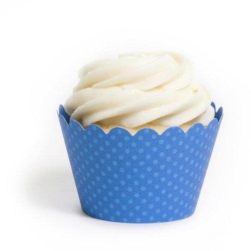 Dress My Cupcake Standard Royal Blue Cupcake Wrappers, Set of 12 by Dress My Cupcake (Royal Blue Cupcakes)