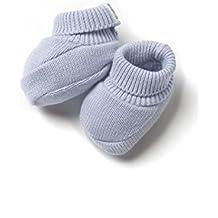 Patucos de Punto 100% algodón para Bebé Color Celeste - Minutus