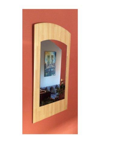 Spiegel Wandspiegel Flur Garderobe Buche 90 x 50 cm Hängespiegel Wandekoration