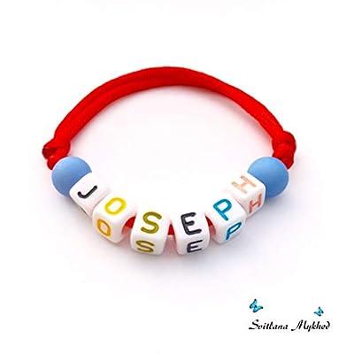 Bracelet avec prénom JOSEPH (réversible, personnalisable) homme, femme, enfant, bébé, nouveau-né.