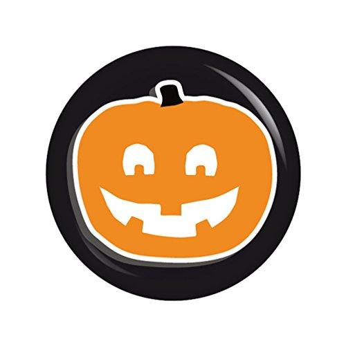 Halloween Kostüme 1700 (Kiwikatze® Fest - Kürbis 3 Zähne 37mm Button Ansteckbutton für Fasching Karneval Halloween Party und)
