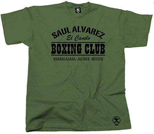 Saul Alvarez Boxing Club Mexico Tshirt Gym Top Top BT-ALV01 Green