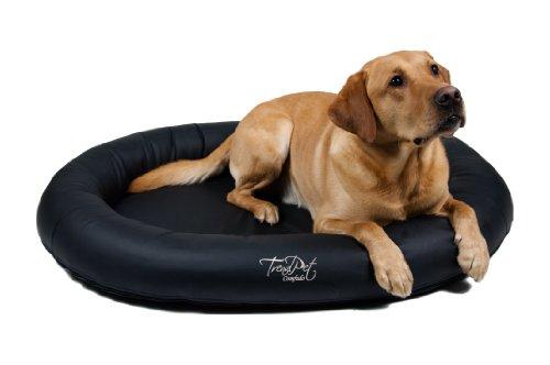 Artikelbild: TrendPet 'Comfado' 110x80cm Black, Luxus Hundebett aus Soft-Kunstleder 'Das Hundebett'