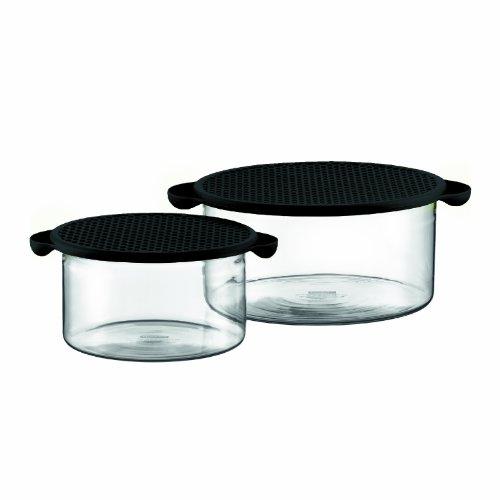 Bodum K10127-01 Hot Pot Set 2 Stück Schale mit Deckel, 1.0 l - 2.5 l