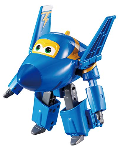 Alpha Animation & Toys Super Wings YW710230 Transforming Jerome Flugzeug, Color Negro, Azul