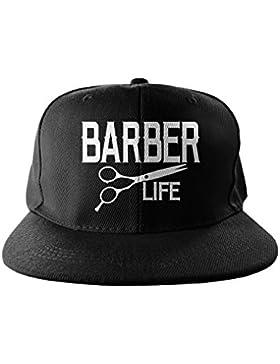 Barber Life Hip Hop Stampa Snapback Berrettopello Berretto Nero