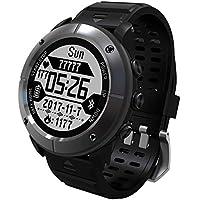 Erduo Pantalla DE 1,2 Pulgadas Impermeable Senderismo al Aire Libre Ejecución del Reloj Inteligente Monitor de Ritmo cardíaco GPS Termómetro Reloj Deportivo - Gris