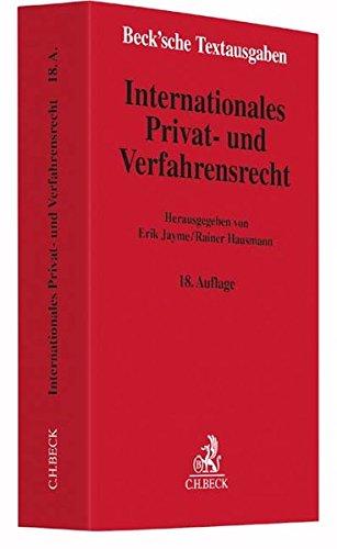 Internationales Privat- und Verfahrensrecht: Rechtsstand: 10. Juli 2016