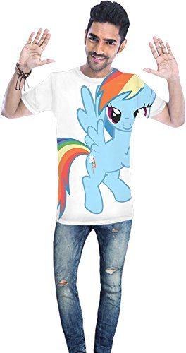 Rainbow Dash flying Unisex T-shirt XX-Large