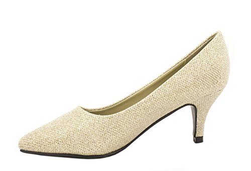 Elara Damen Pumps Spitz | High Heels Elegante Schuhe Gold