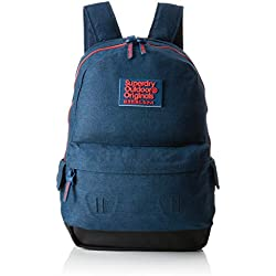 Superdry - Fresh International Montana, Mochilas Hombre, Azul (Navy Marl), 30x45x15 cm (W x H L)