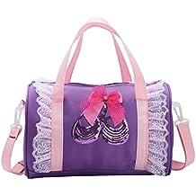 a12a1a66068 YiZYiF Bolsa de Danza Ballet Niñas Bolsa Deportes Bandolera Bolsa de Mano  Personalizada Infantil Tote Mochila
